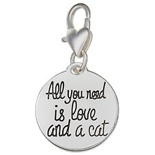 Amanda Blu Heartfelt Emotions Cat/All You Need Clip-On 2-Sided Medallion