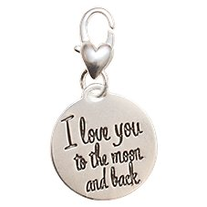 Amanda Blu Heartfelt Emotions Moon Star/Endless Love Clip-On 2-Sided Medallion