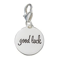 Amanda Blu Heartfelt Emotions Horse Shoe/Good Luck Clip-On 2-Sided Medallion