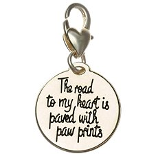 Amanda Blu Heartfelt Emotions Paw Print/The Road to My Heart Clip-On 2-Sided Medallion