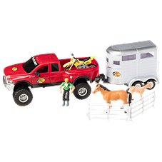 Bass Pro Shops Licensed Deluxe Dodge Ram and Horse Trailer Adventure Truck Play Set for Kids