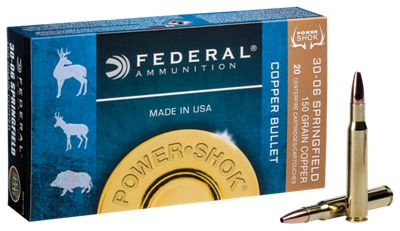 Federal Power Shok Copper Centerfire Rifle Ammo