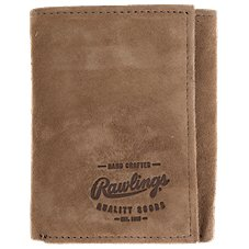 Rawlings Double Steal Leather Trifold Wallet for Men