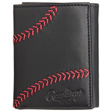 Rawlings Baseball Stitch Trifold Wallet for Men