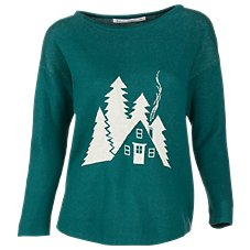 Woolrich Berry Hill Motif Drop Shoulder Sweater for Ladies