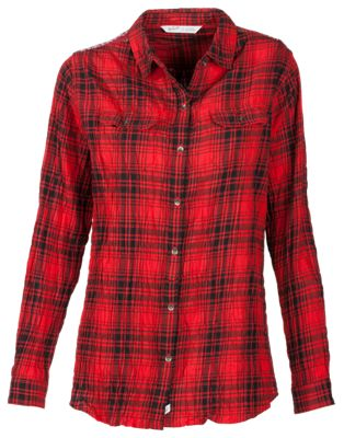 Woolrich Malila Peak Flannel Shirt for Ladies – Red Hunt Plaid – S