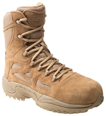 5f2253dabfb Reebok Rapid Response RB 8'' Side-Zip Composite Toe Tactical Work Boots for  Men