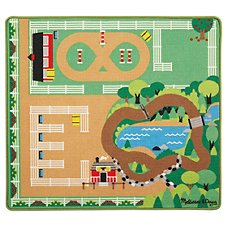 Melissa & Doug Round the Ranch Ranch Rug and Horse Set