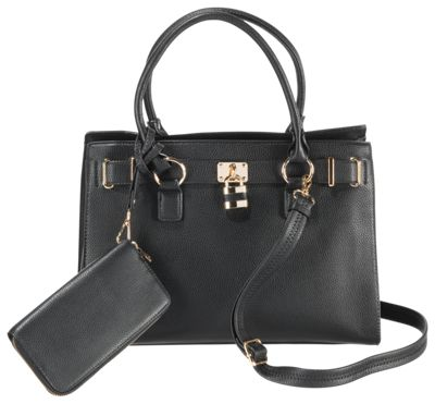 Emperia Dina Concealed Carry Satchel Handbag and Matching Wallet
