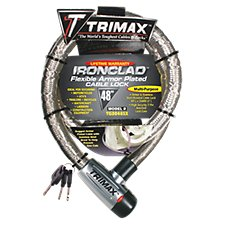 Trimax Ironclad Flexible Armor Plated Cable Lock