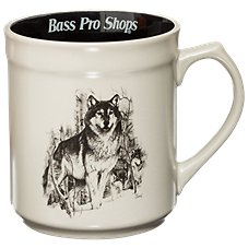 Bass Pro Shops Trigger Mug - Wolf by the Hautman Brothers