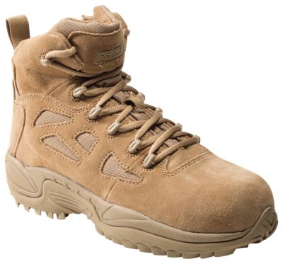 4fdc811ab06 Reebok Rapid Response RB Side-Zip Composite Toe Tactical Work Boots for Men