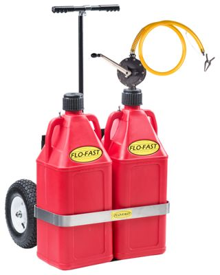FLO-FAST Professional Model Pump, 2 Gasoline Containers and Cart System by