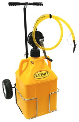 FLO-FAST Professional Model Pump, 15-Gallon Diesel Fuel Container and Cart System by