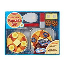 Melissa and Doug Wooden Flip and Serve Pancake Set for Kids