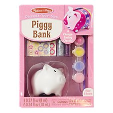 Melissa and Doug Decorate-Your-Own Piggy Bank for Kids