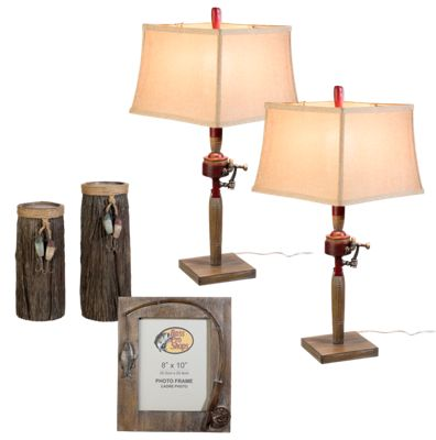 Bass pro shops 5 piece fishing table lamps and accessories set skuimg aloadofball Image collections