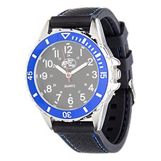 Bass Pro Shops Black/Blue Field Watch for Men