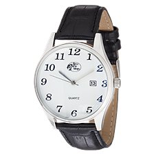 Bass Pro Shops Classic Black Leather Field Watch for Men