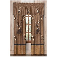 King of Bucks Bedding Collection Rod Pocket Drapes or Valance