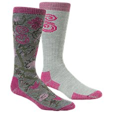 SHE Outdoor Boot Socks for Ladies - 2-Pair Pack