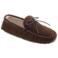 Minnetonka Moccasin Casey Suede Moccasin Slippers for Men
