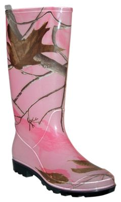 Itasca PVC Waterproof Boots for Ladies – Realtree APC Pink – 7M