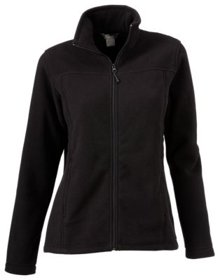 cddd40f11a433 Natural Reflections Spring Full Zip Fleece Jacket for Ladies Black L