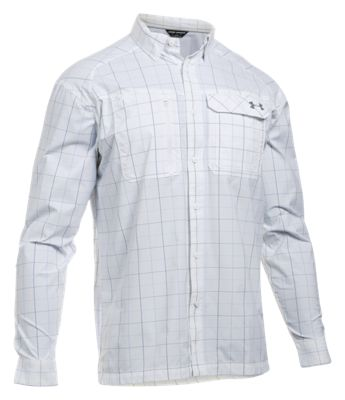 1f61ffcab4 Under Armour Fish Hunter Plaid Long Sleeve Shirt for Men WhiteRhino ...