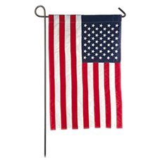 Evergreen American Garden Flag