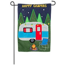 Evergreen Happy Campers Garden Flag