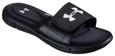 c1c39e386e1 Under Armour Ignite V Slide Sandals for Men BlackWhite 11M
