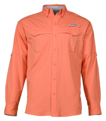c26f2ce0be7 Columbia Low Drag Offshore Long Sleeve Shirt for Men Bright Peach S
