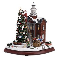Musical Town Hall LED Lighted Figurine