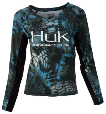Huk kryptek icon long sleeve t shirt for ladies bass pro for Bass pro shop fishing shirts