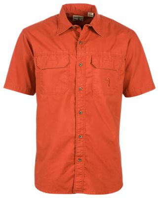 Redhead short sleeve washed bass shirt for men rooibos tea m for Redhead bear creek flannel shirt