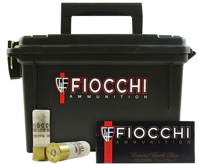 Fiocchi Buckshot Shotshells with Ammo Can – 80 Rounds – 1140 fps