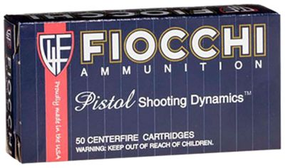 Fiocchi Shooting Dynamics Handgun Ammo – .38 Super – 129 Grain – 50 Rounds