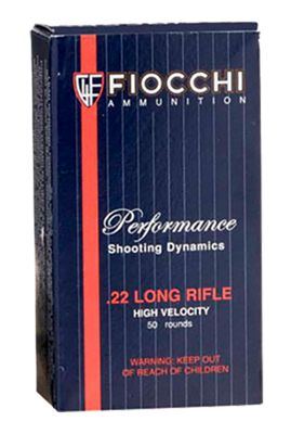 Fiocchi Shooting Dynamics Rimfire Ammo Copper-Plated Solid Point .22 Long Rifle 50 Rounds by USA Fiocchi Gun Ammunition