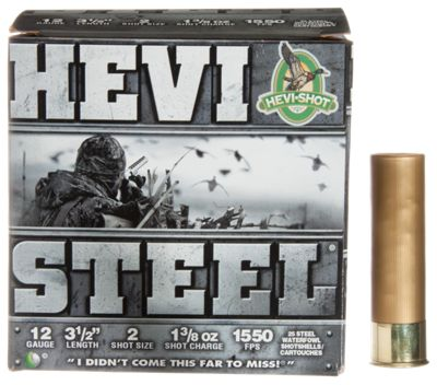 HEVI Shot HEVI Steel Shotshells 12 Gauge 1 3 25 Rounds