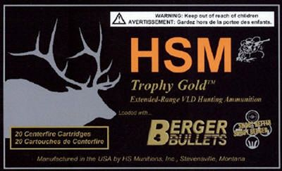 HSM Trophy Gold Centerfire Rifle Ammo – .300 Remington Ultra Mag – 185 Grain – 20 Rounds