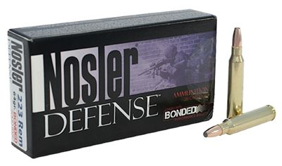 Nosler Defense Centerfire Rifle Ammo – .223 Remington – 64 Grain – 20 Rounds
