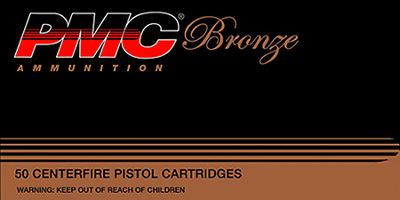 PMC Bronze Handgun Ammo – Jacketed Hollow Point – .45 Automatic Colt Pistol – 50 Rounds