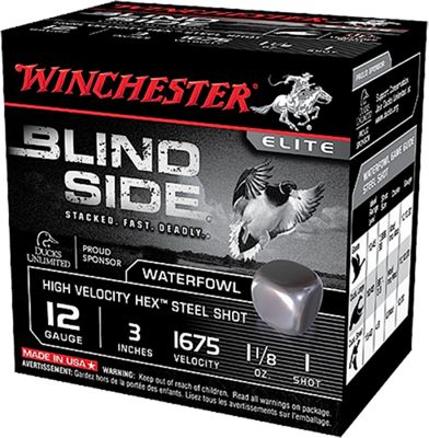 Winchester Blind Side High-Velocity Steel Waterfowl Load Shotshells  by