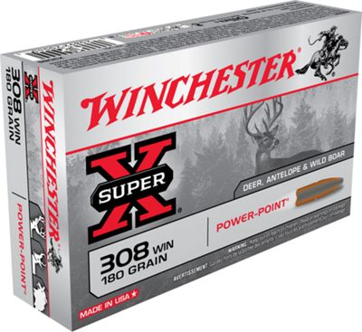 Winchester Super-X Rifle Ammo – Power-Point – 7mm Remington Magnum – 20 rounds