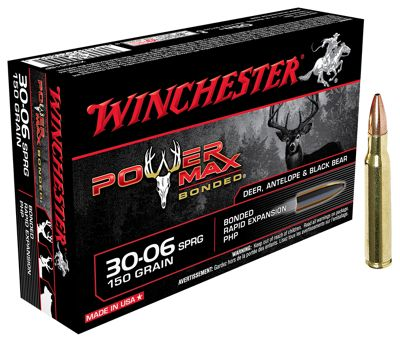 Winchester Power Max Bonded Centerfire Rifle Ammo