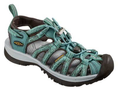 63fa746a0529 KEEN Whisper Sandals for Ladies MalachiteSilver 10M