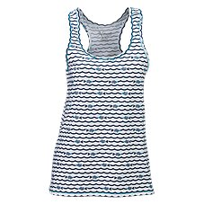Natural Reflections Kiss My Bass Waves Racerbank Tank for Ladies