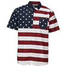 RedHead Colorblock Stars and Stripes Shirt for Men