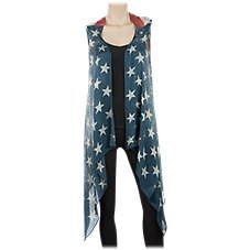 Quagga Vintage American Flag Vest for Ladies